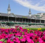 Churchill Downs in the sun